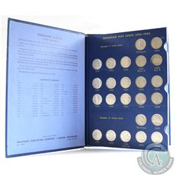 Estate Lot of 52x Canada 5-cents Dated 1922-1967 in Vintage Blue Whitman Book (missing 1925 & 1926 F