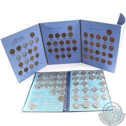 Estate Lot of 109x Canada 1-cent & 5-cents Dated 1920-1972 in Blue Whitman and Uni-Safe Folders. You