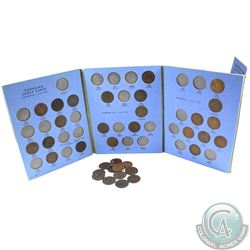 Estate Lot of 1858-1920 Large Cents in Whitman Folder with Some Dates Missing. You will also receive