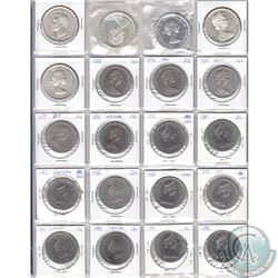 Estate Lot of 1939-1986 Canada Dollars. You will receive the following dates: 1939, 1958, 1964, 1965