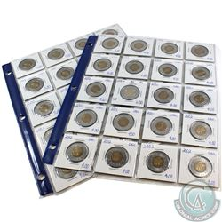Estate Lot of 1998-2002 Canada Two Dollar Collection. You will receive the following dates: 1998, 11