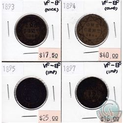 Lot of 1893-1897 Canada Large 1-cent Collection. You will receive the following dates: 1893, 1894, 1