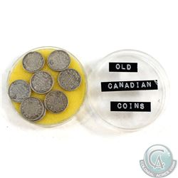 Estate Lot of 1909-1920 Canada Silver 5-cents Collection. You will receive the following dates: 1909