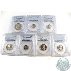 Lot of 1976-1979 United States PCGS Certified PR-69 Collection. You will receive the following coins