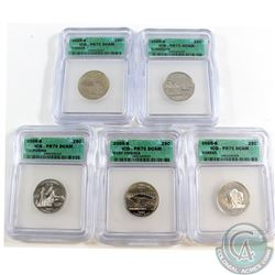 Lot of 2005-S United States ICG Certified PF-70 Statehood Quarter Collection. You will receive each