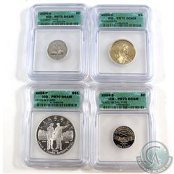 Lot of 2004 United States ICG Certified PR-70 Collection. You will receive the following coins: 2004