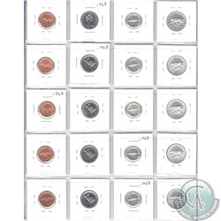 Estate Lot of 1967 Canada Centennial Coin Collection. You will receive 5x 1-cent, 5x 5-cent, 5x 10-c
