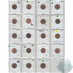 Estate Lot of 19 x USA 1-cent coins with Minor Varieties/Error as indicated on the holders. Please v