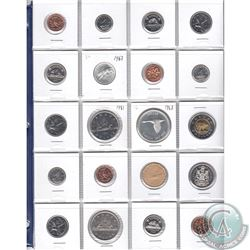 Estate Lot of 20x Canada 1-cent, 5-cent, 10-cent, 25-cent, 50-cent, Silver $1, Nickel $1, Loon $1 &