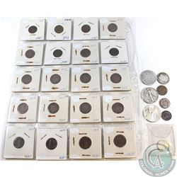 Estate Lot of USA Coinage Dated 1857-1964. You will receive 22x 1-cent, 1x 3-cent, 1x 25-cents & 3x