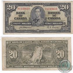 1937 $20.00 Note with Scarce Osborne-Towers Signatures.