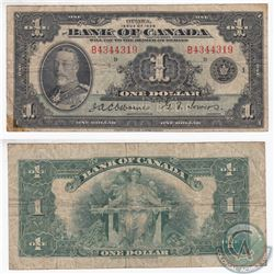 1935 English $1.00 Note with Osborne-Towers Signatures and Series B