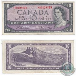 1954 Replacement $10.00 Note with Prefix *A/D.