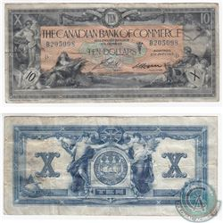 1917 $10.00 Note from the Canadian Bank of Commerce