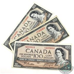 Complete Signature type set of the 1954 Modified Portrait $100.00 Note. Included are 3x 1954 Modifie