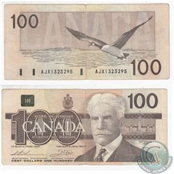 1988 Replacement $100.00 Note from the Bank of Canada.