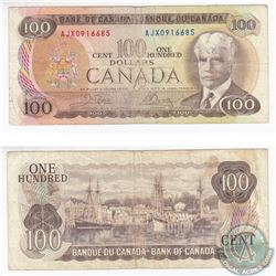 1975 Replacement $100.00 Note with Crow-Bouey Signatures.