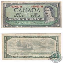 1954 4 Digit RADAR Replacement $1.00 Note with Serial Number *B/M1029201