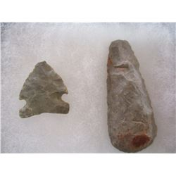 2 Stone Artifacts Framed from South Dakota.