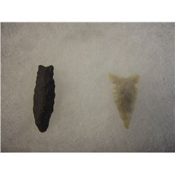 Lot of 2 Stone Points South Dakota