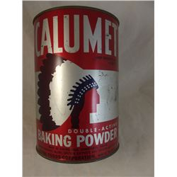 Large Indian Chief Calumet Baking Powder Tin