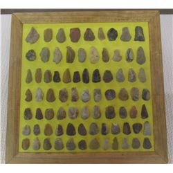 Frame of 84 Stone Artifacts from South Dakota