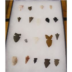 Frame of 19 Stone Artifacts