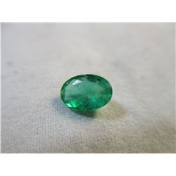 Faceted .80 ct Emerald