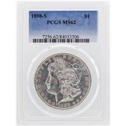 1898-S $1 Morgan Silver Dollar Coin PCGS MS62