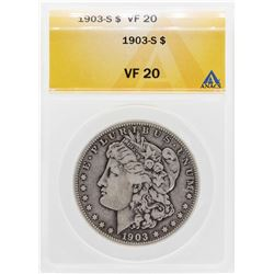 1903-S $1 Morgan Silver Dollar Coin ANACS VF20