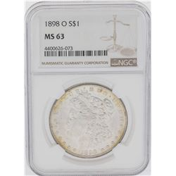 1898-O $1 Morgan Silver Dollar Coin NGC MS63