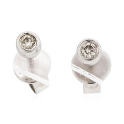 14KT White Gold Lady's 0.08ctw Diamond Stud Earrings
