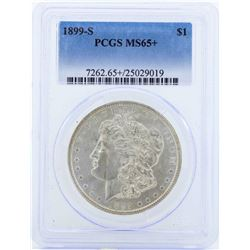1899-S $1 Morgan Silver Dollar Coin PCGS MS65+