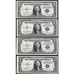 Lot of (4) 1935E $1 Silver Certificate Notes Uncirculated