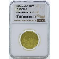 1995 Canada $100 Louisbourg Gold Coin NGC PF70 Ultra Cameo