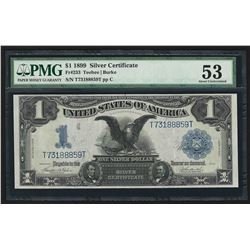1899 $1 Black Eagle Silver Certificate Note PMG About New 53