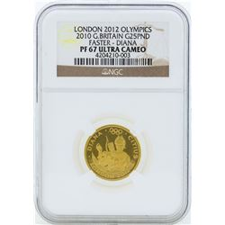 2012 Great Britain 25 Pound London Olympics Commemorative Gold Coin PF67 Ultra C