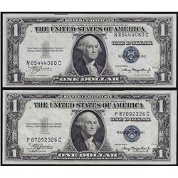 Lot of (2) 1935A $1 Silver Certificate Notes Uncirculated