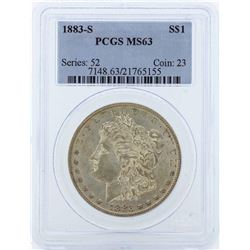 1883-S $1 Morgan Silver Dollar Coin PCGS MS63