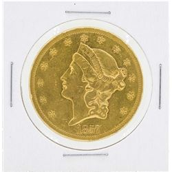 1857-S $20 Liberty Head Double Eagle Gold Coin
