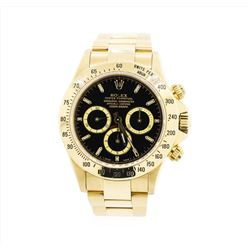 18KT Yellow Gold Rolex Daytona with Black Dial