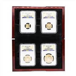 2010 American Gold Eagle (4) Coin Set NGC MS70 Early Release