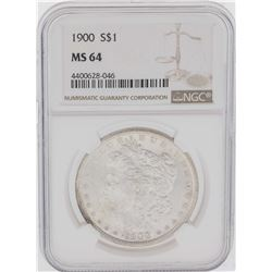 1900 $1 Morgan Silver Dollar Coin NGC MS64