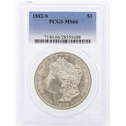 1882-S $1 Morgan Silver Dollar Coin PCGS MS66