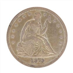 1873 $1 Seated Liberty Silver Dollar Coin