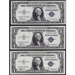 Lot of (3) 1935A $1 Silver Certificate Notes Uncirculated