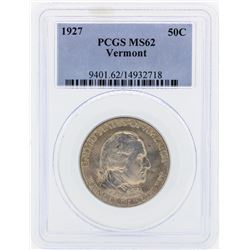 1927 Vermont Commemorative Half Dollar Coin PCGS MS62
