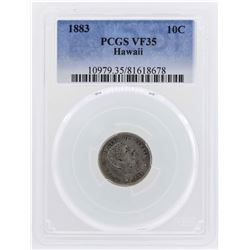 1883 Kingdom of Hawaii Dime Coin PCGS VF35