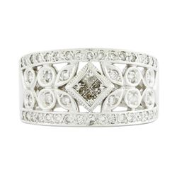 14KT White Gold Ladies 0.70ctw Diamond Ring