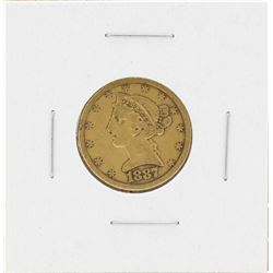 1887-S $5 Liberty Head Half Eagle Gold Coin